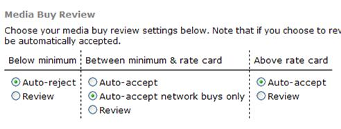 Media Buy Review Settings